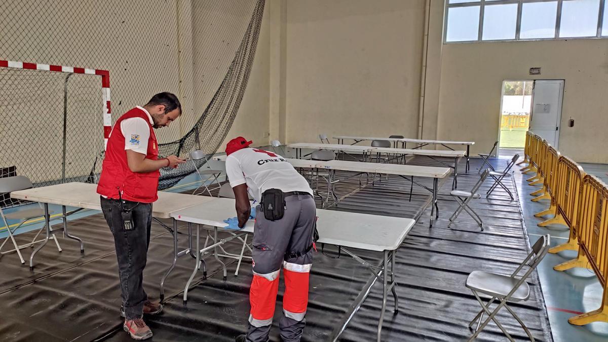 Instalación del segundo albergue para personas sin hogar en Lanzarote