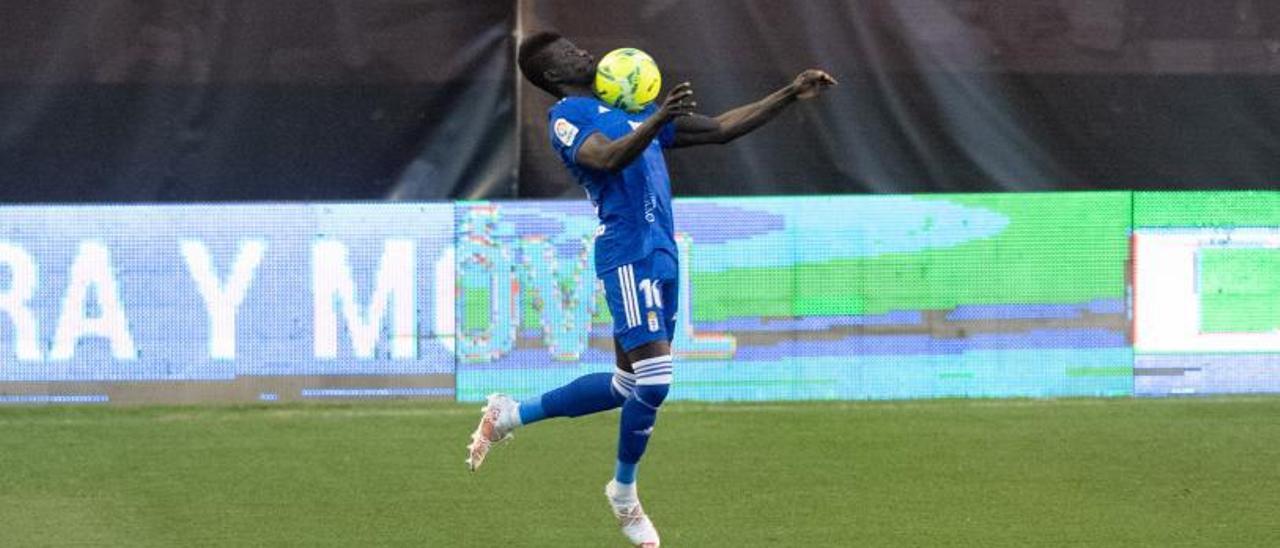 Obeng, en un partido de la pasada temporada.   LOF