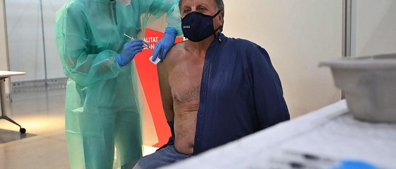 Vacunación ayer en las instalaciones habilitadas en IFA