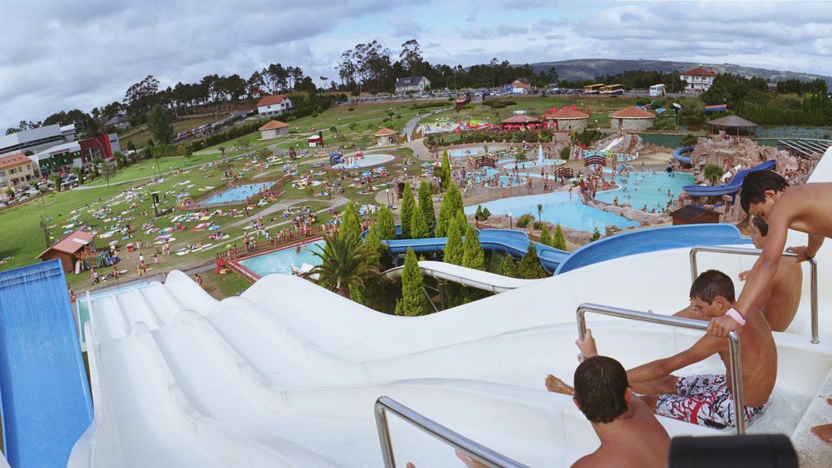 Una de las atracciones del aquapark de Cerceda.