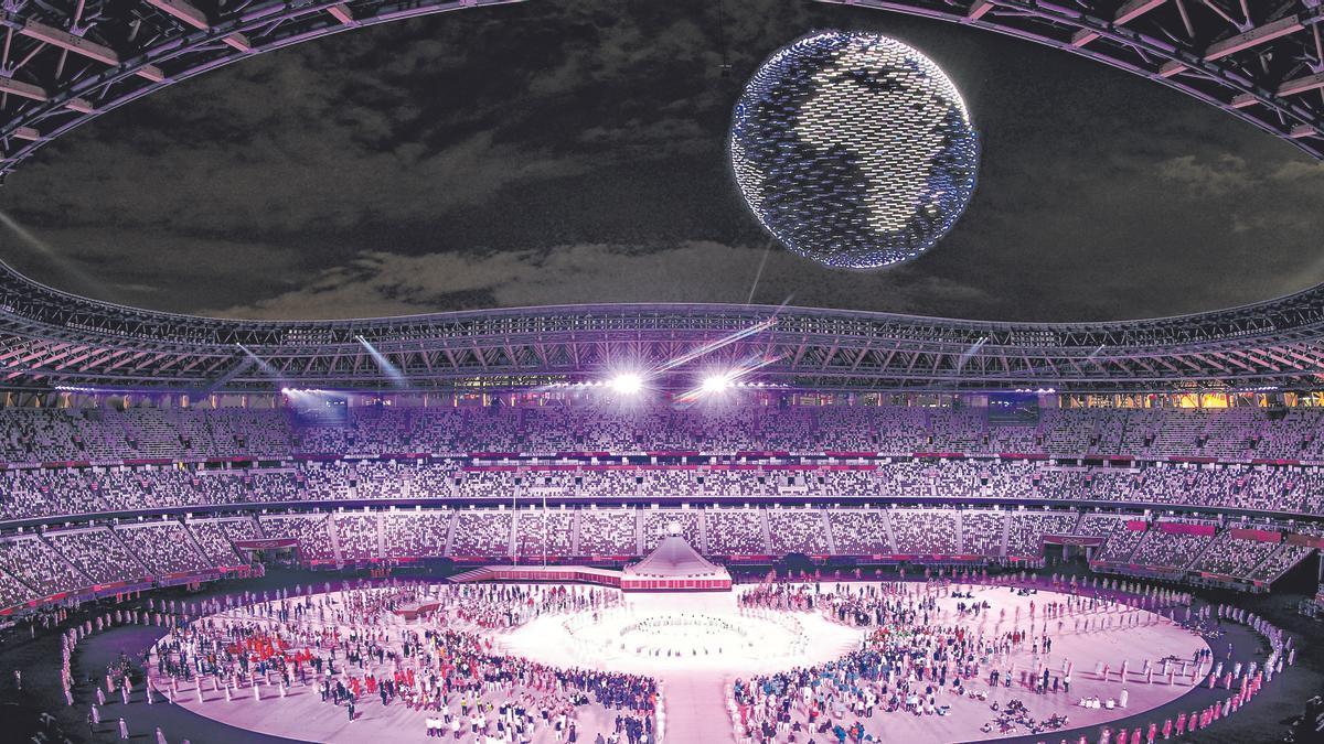 Ceremonia de apertura de Tokio 2020.