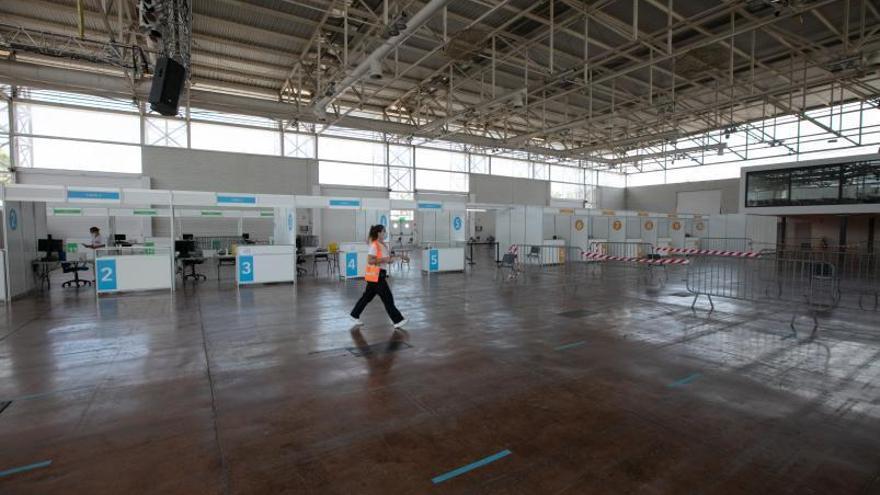 El Recinto Ferial de Ibiza administrará terceras dosis de la vacuna contra el covid antes de cerrar
