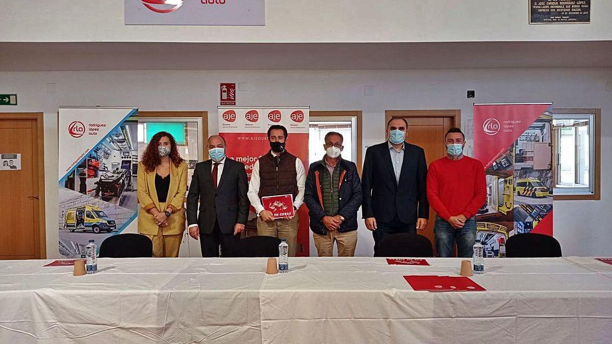 Presentación de la memoria anual de la Asociación de Jóvenes Empresarios de Ourense.