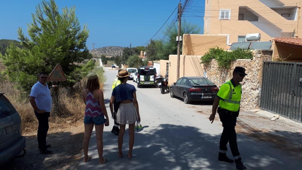 Amplio despliegue policial para disolver la fiesta