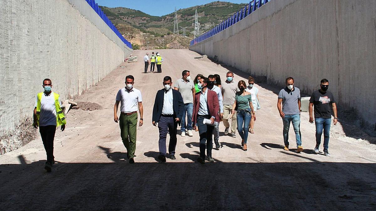 Se prevé que el paso inferior de San Antonio en Lorca abra en dos meses.