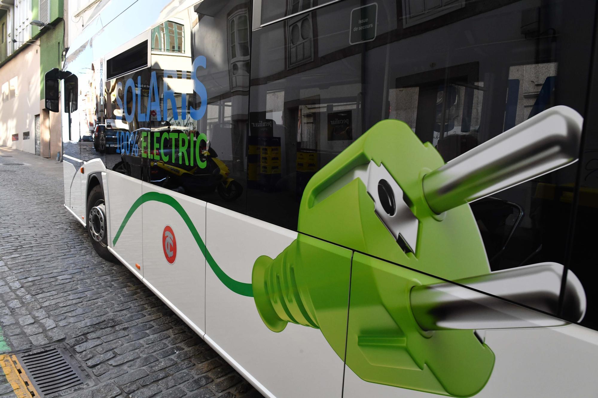 Tranvías prueba un autobús eléctrico