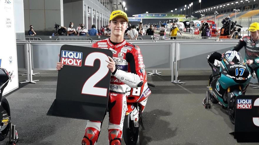 Izan Guevara arranca segundo en su estreno en el Mundial de Moto3