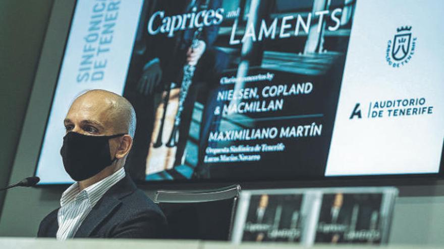 El clarinetista tinerfeño Maximiliano Martín graba un disco con la OST