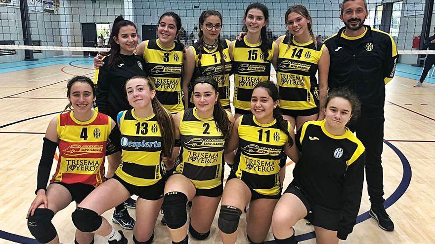 Voleibol El juvenil del Real de Gandia CF pelea por el ascenso