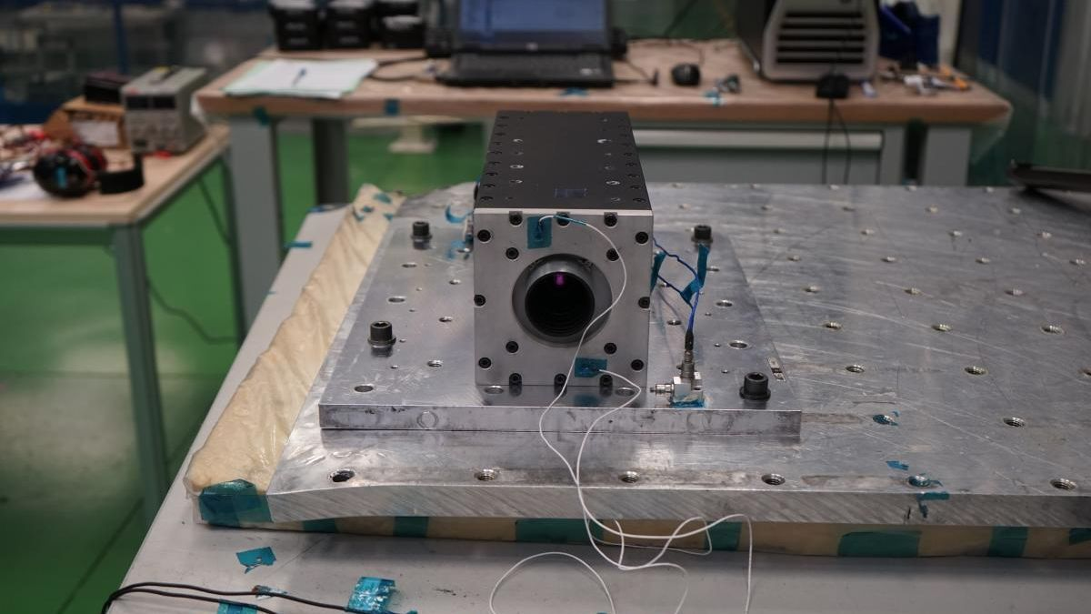Imagen del instrumento DRAGO durante los ensayos.