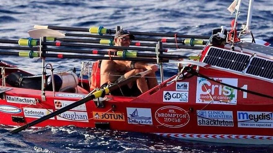 Jorge Pena llega a Antigua y culmina la hazaña de cruzar a remo el Atlántico