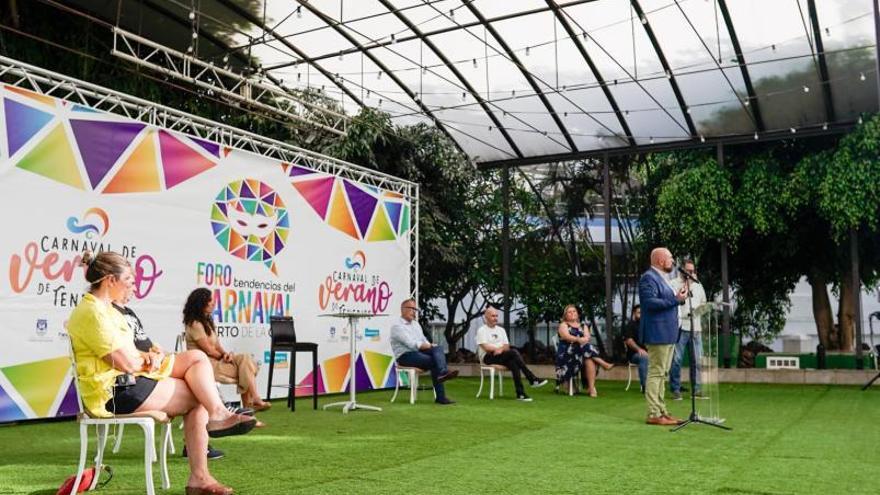 Una delegación alemana participa en el Carnaval de Verano 2021 de Puerto de la Cruz