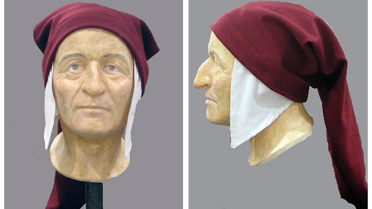 El rostro de Dante fue reconstruido por la Universidad de Bolonia.