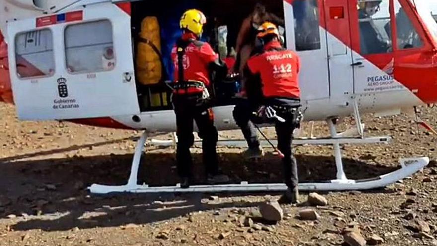 Evacuada de un risco en Tuineje