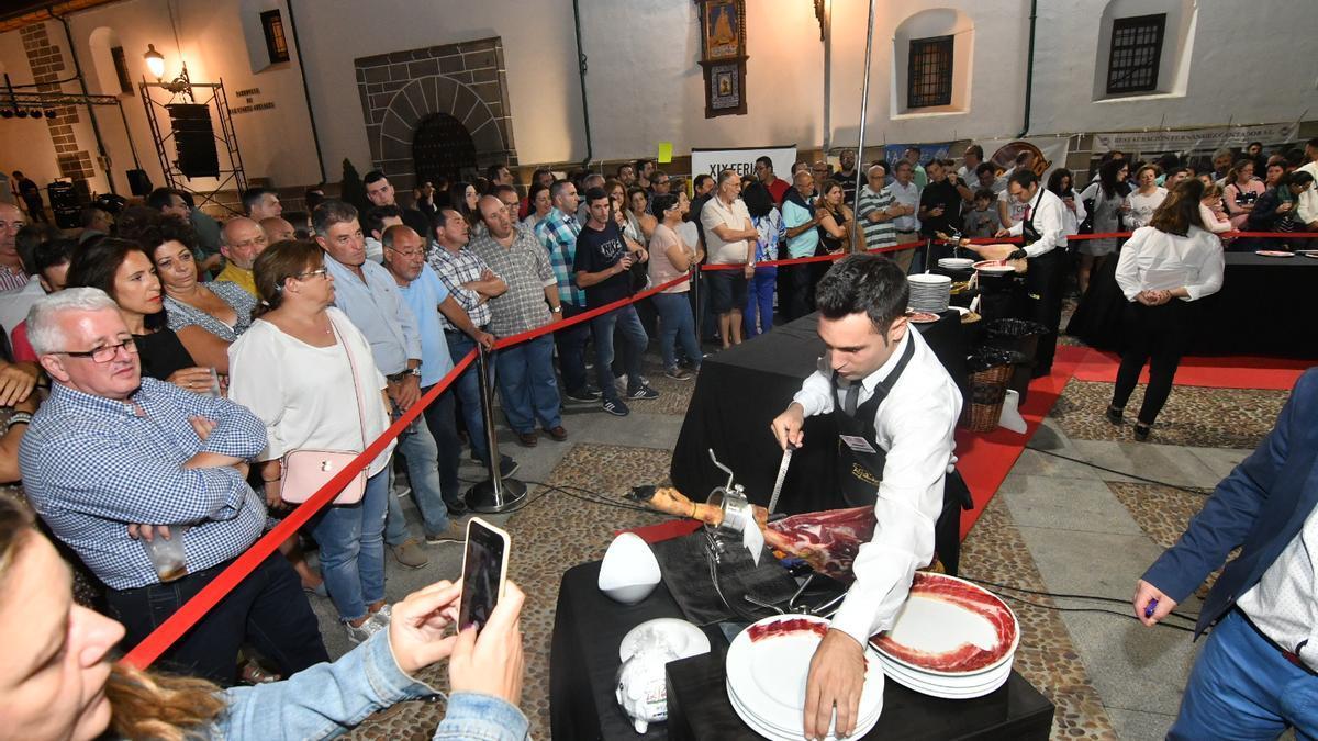 Imagen de una edición pasada de la Feria del Jamón.