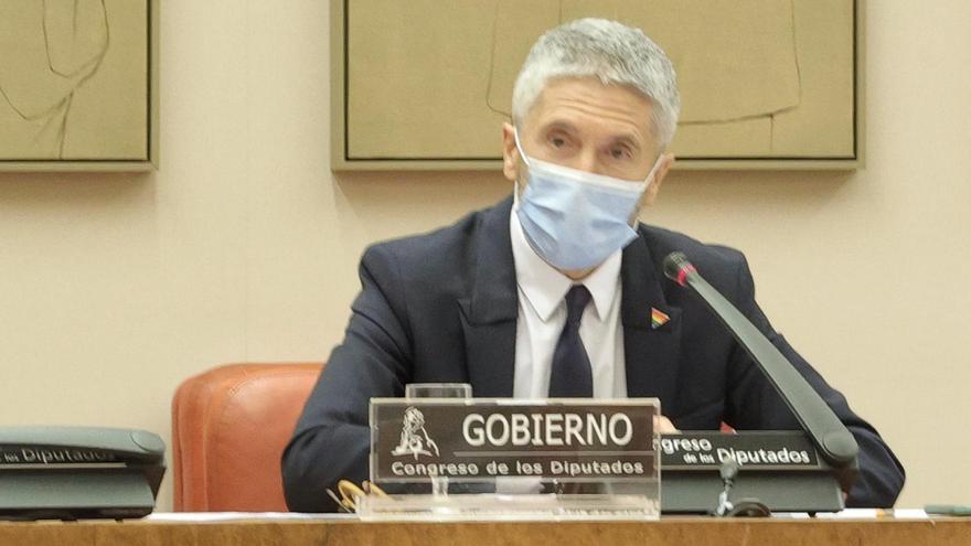 """Marlaska abronca al PP por usar políticamente que el nombre de Casado fue """"tecleado en Google"""" por los CDR"""