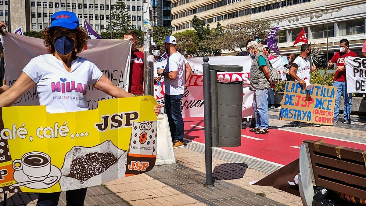 Manifestación de los trabajadores de JSP celebrada el pasado mes de mayo.