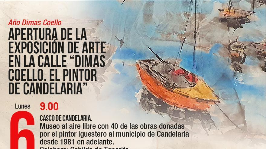 Arte en la calle Dimas Coello. El pintor de Candelaria