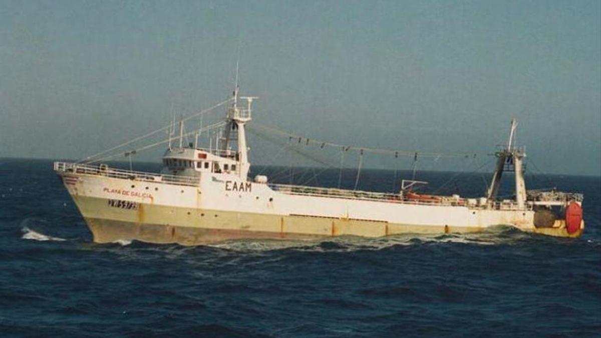 """El buque """"Playa de Galicia"""""""