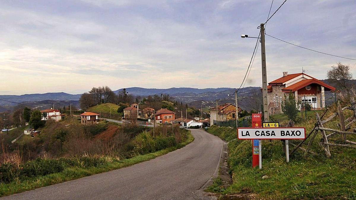 El pueblo de La Casa Baxo, en Langreo.