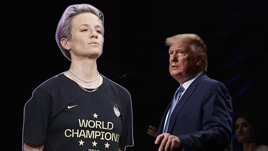 """Rapinoe, la capitana de la selección de fútbol de EEUU, a Trump: """"Tu mensaje excluye a gente como yo"""""""