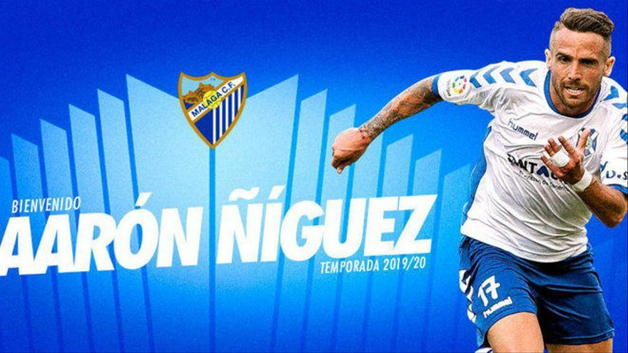 El exfranjiverde Aarón Ñíguez jugará en el Málaga hasta final de temporada