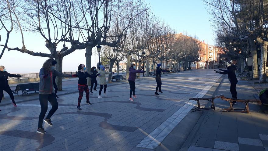 La actividad deportiva sale a la calle en Benavente a pesar de las bajas temperaturas