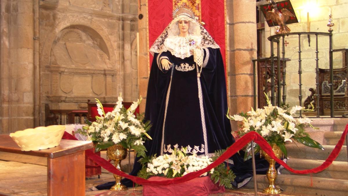 María Santísima de los Dolores, en la concatedral.