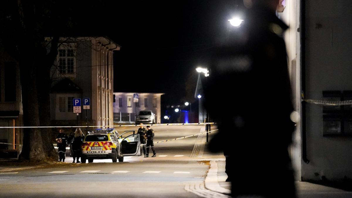 Lugar en el que ocurrió el ataque con arco y flechas en Noruega.