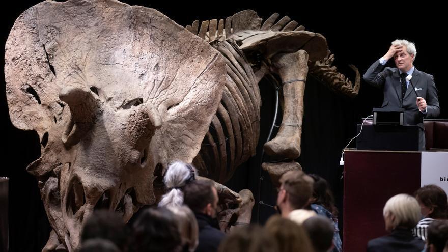 Un coleccionista paga más de 6,5 millones por el esqueleto de un dinosaurio