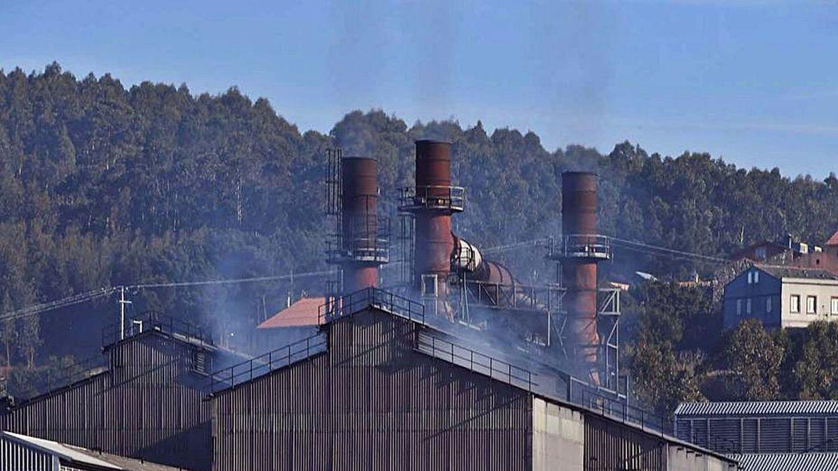 Fábrica de Ferroatlántica en Sabón.