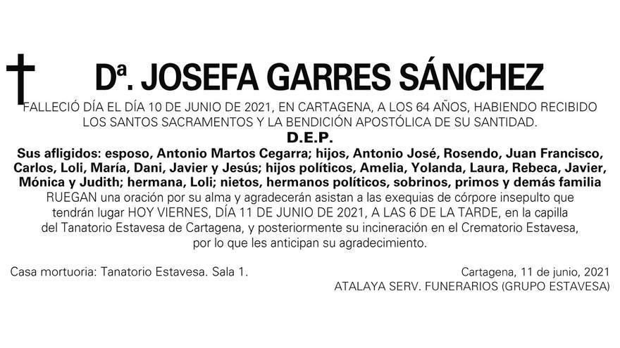 Dª Josefa Garres Sánchez