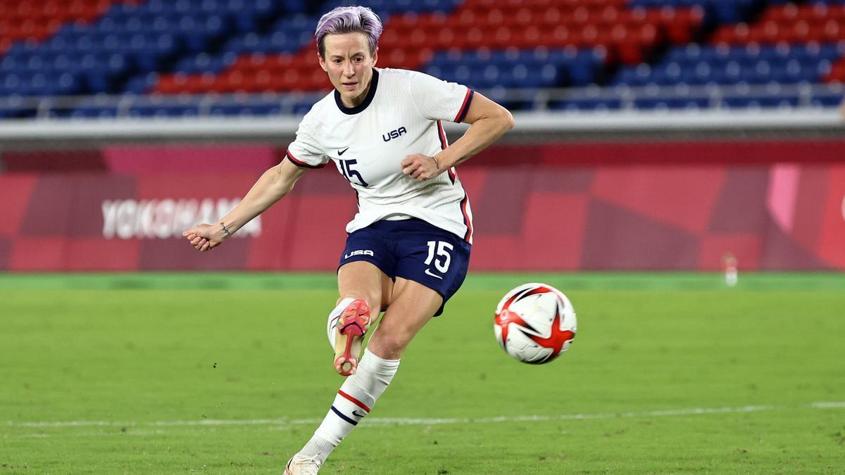 Megan Rapinoe, durante el partido  entre Estados Unidos y Países Bajos.