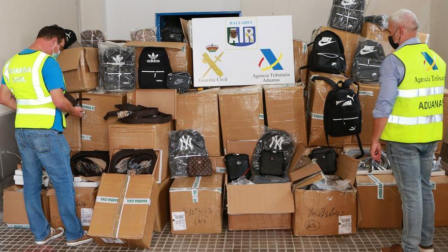 Intervienen en Palma 3.000 productos falsificados procedentes de Asia