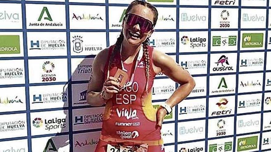 Anuchi Gago acaba sexta en el Europeo de duatlón