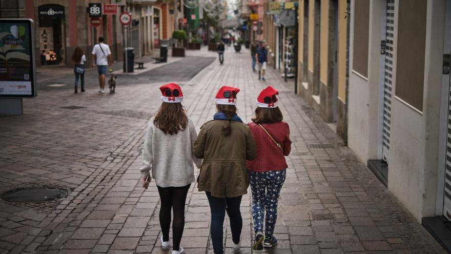 Un ambiente triste en las calles preside la fiesta de Navidad
