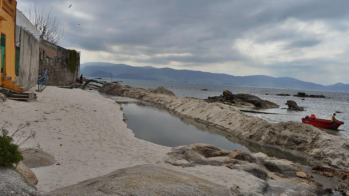 Aspecto actual de las obras en la playa. |   // FDV