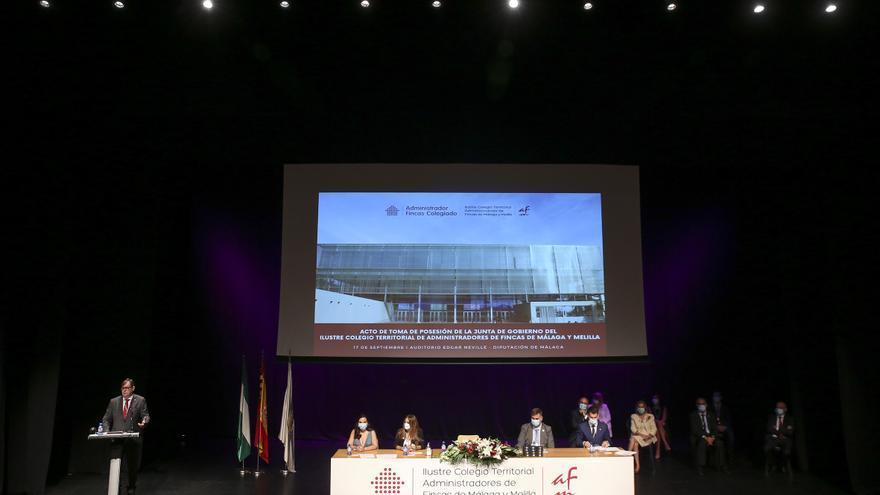 Manuel Jiménez Caro toma posesión como presidente del Colegio de Administradores de Fincas de Málaga
