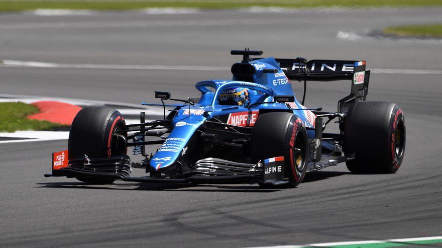 Alonso y Sainz saldrán 7º y 10º en el GP de Gran Bretaña
