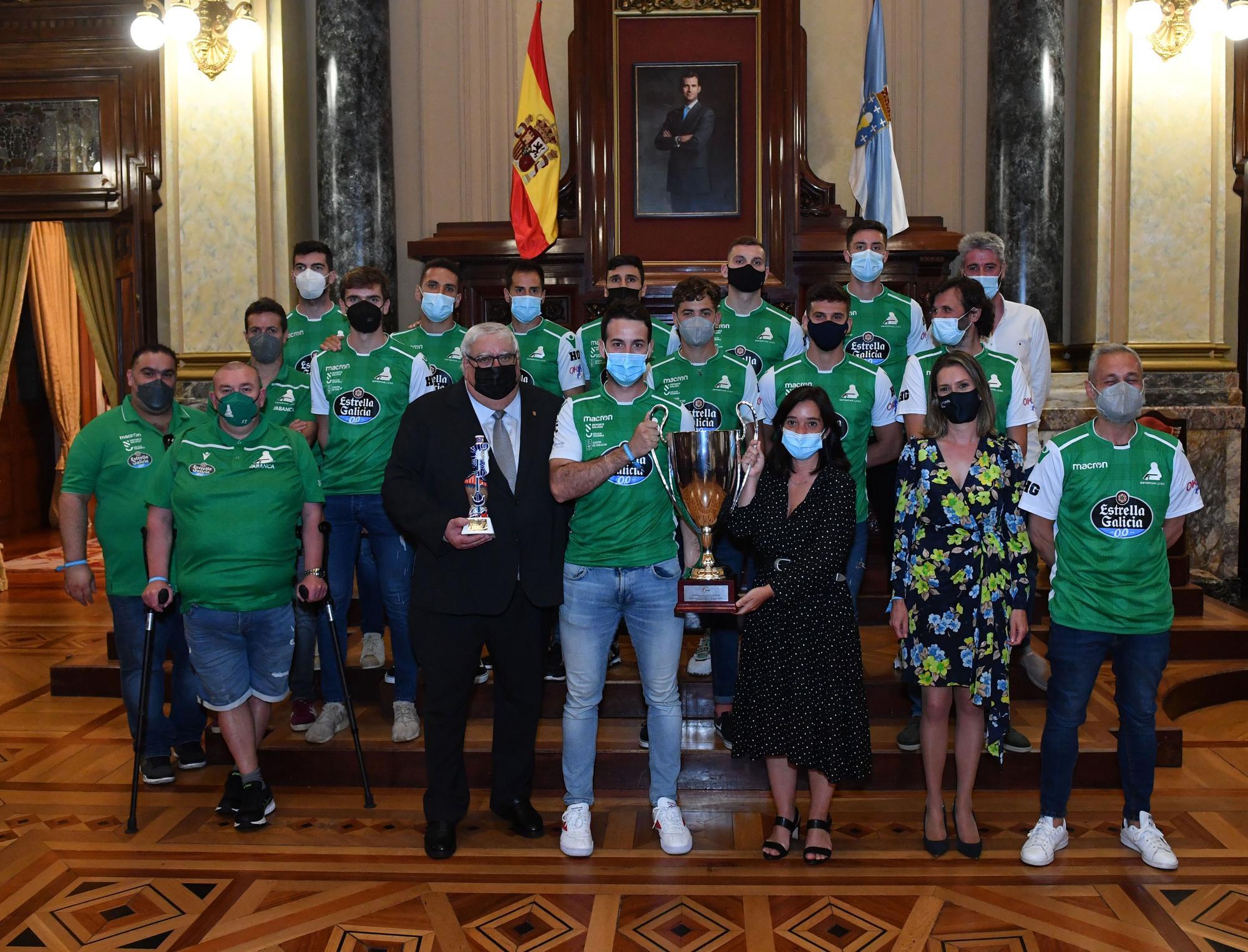 Recepción en María Pita al Deportivo Liceo tras ganar la Copa del Rey