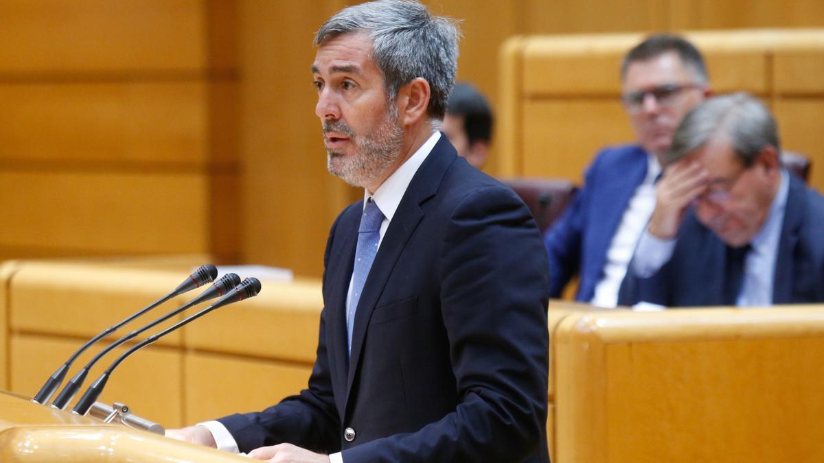 Fernando Clavijo en el Senado.