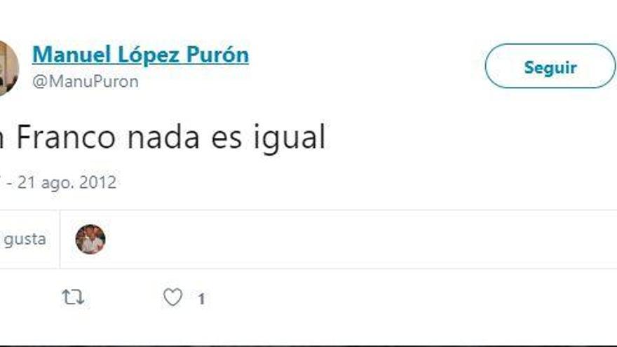 """Los polémicos tuits del presidente de Nuevas Generaciones del PP de Oviedo: """"Sin Franco nada es igual"""""""
