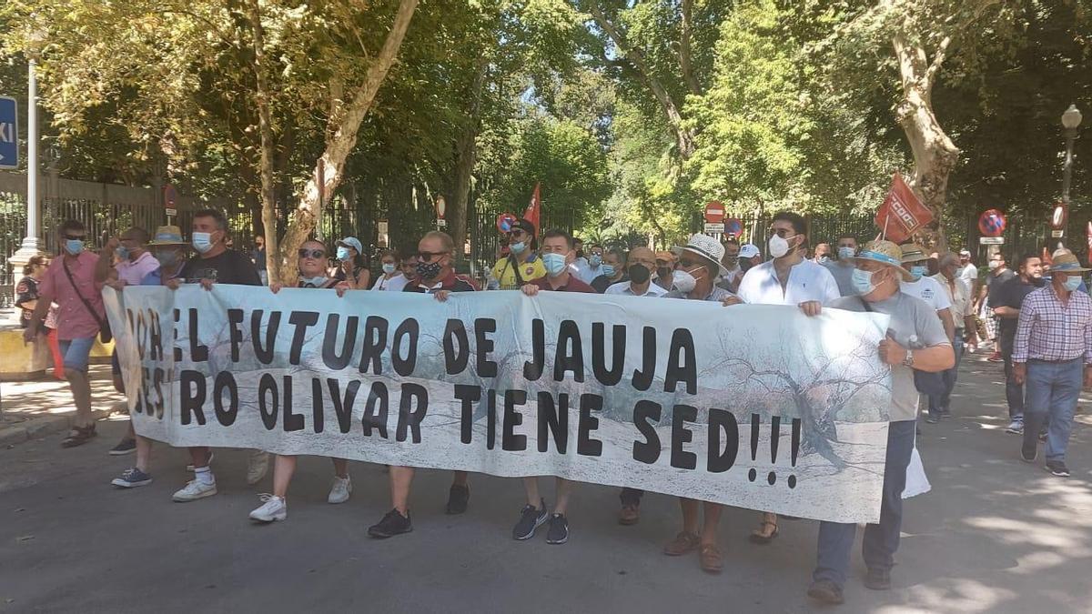 Los regantes de Jauja ya se concentraron hace unas semanas en Sevilla.