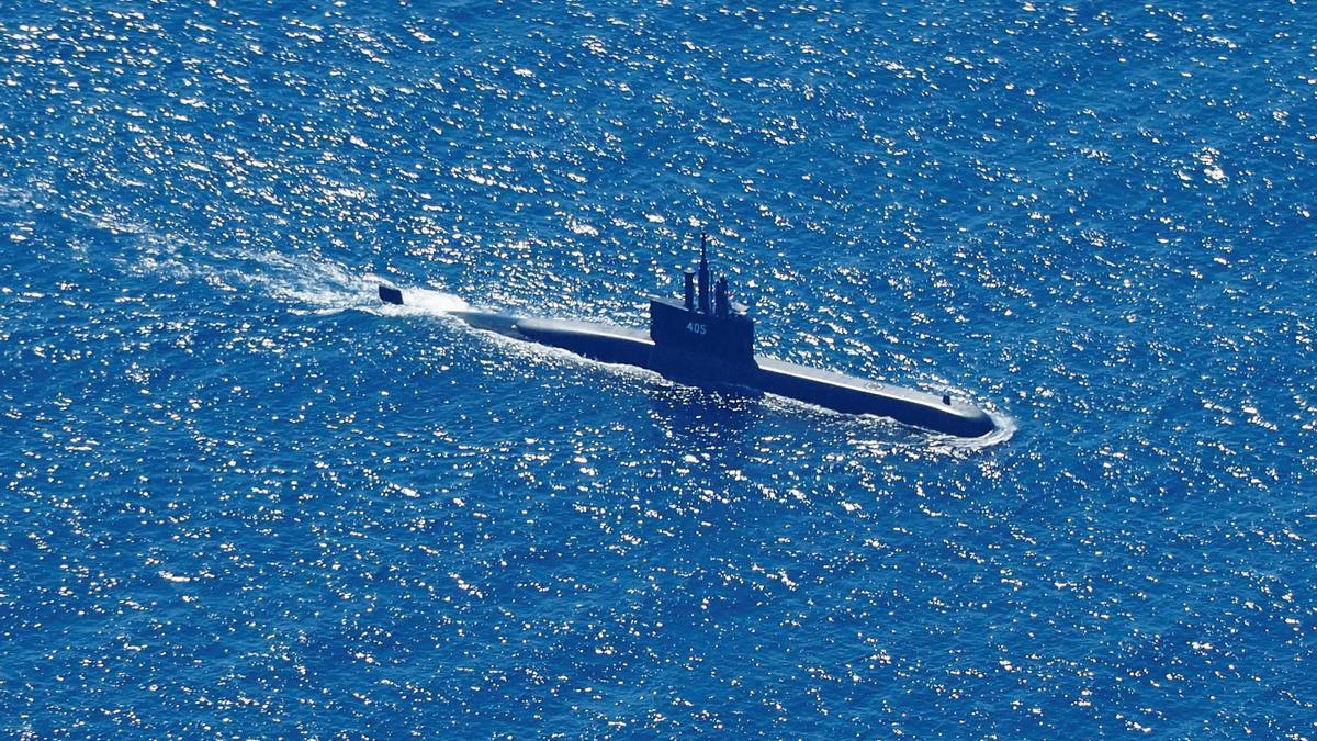 El submarino desaparecido en Indonesia.