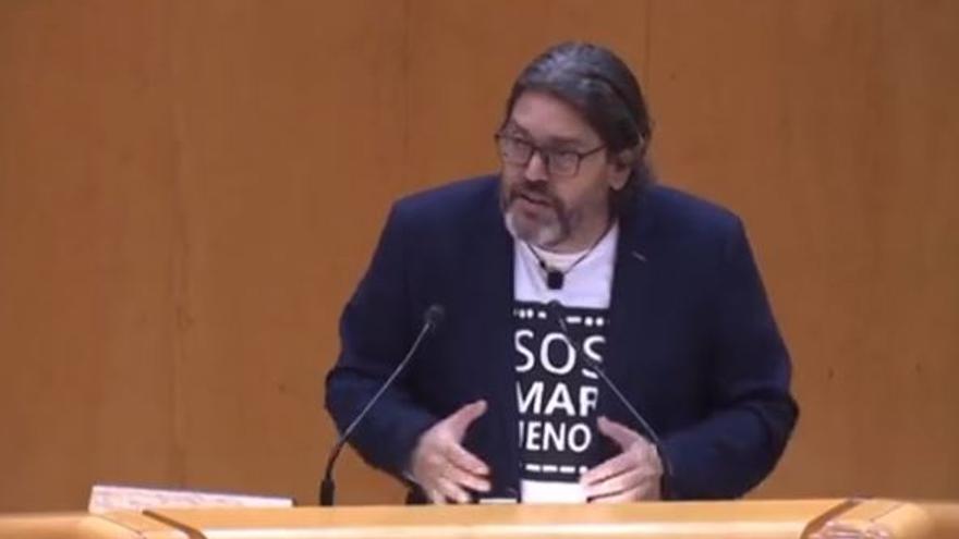 Miguel Sánchez enerva al PP en el Senado tras culparles por la crisis del Mar Menor