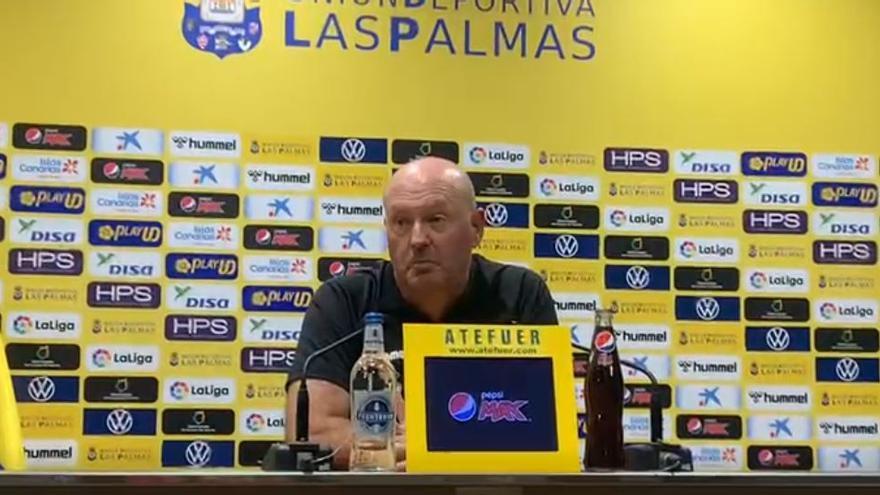 Rueda de prensa de José Mel, entrenador de la UD Las Palmas (18/09/2021)