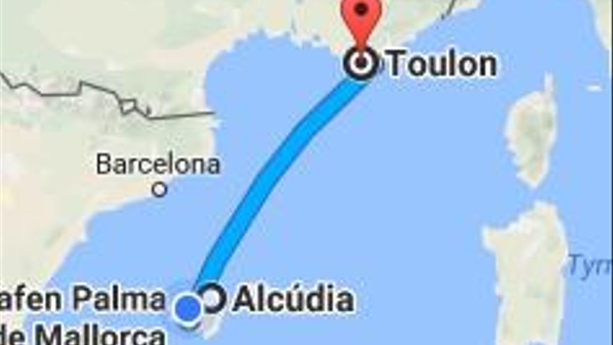 Neue Fähre von Toulon nach Mallorca