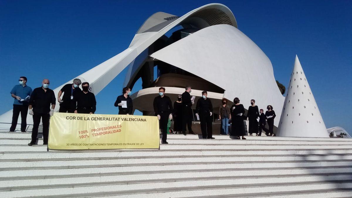 Protesta del Cor de la Generalitat.