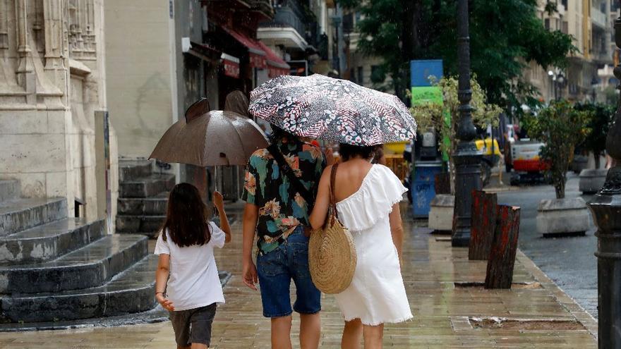 El tiempo en València: los 40 grados dejan paso a las lluvias