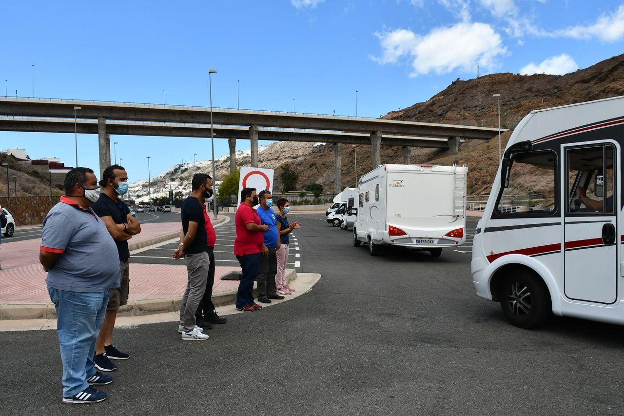 Nueva área para autocaravanas en Mogán